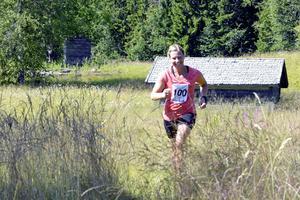 28-åriga lantbruksrådgivaren Sofia Jansson var en av 90-talet löpare som deltog i första upplagan av terrängloppet Lögdö Cross Country.