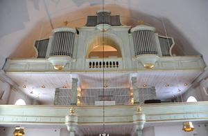 De två historiska orglarna i Husby kyrka renoverade för att åter fylla kyrkorummet med musik.Foto:Rolf Sundblad