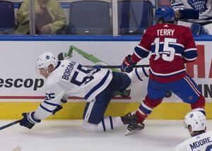 Andreas Borgman har slagit sig in i Toronto inför NHL-säsongens start natten mot torsdag.