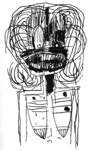 Självporträtt som misslyckad Beckett, Lady von Baby & Knasiga hakkors av Joakim Pirinen.