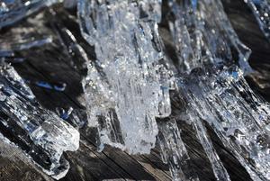 Isen blir till kristaller. Vackert! Foto: Lovisa Lundberg