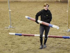 Johanna Hammarstrand är ridlärare på Realgymnasiet.