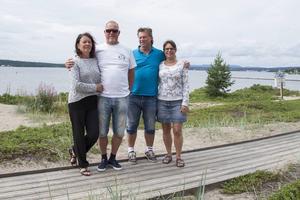 Arne och Gunnel Piippola semestrar på motorcykel tillsammans med Jan och Helen Momqvist.