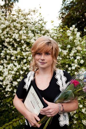 Clara Bodén tog i går emot Regionförbundets kulturpris.