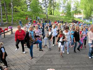 Dansanta. Barnen på Åmmebergs skola har under våren lärt sig att dansa under ledning av Karin Karlson. De visade upp sina färdigheter för föräldrarna, som också fick prova på att ta några steg.BILD: PRIVAT
