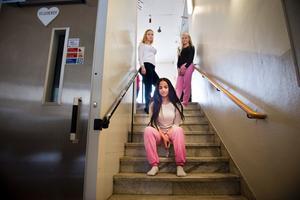 Viktigt. Abrar Waleed och vännerna Clara Hastad och Erica Ivansson har lärt sig mycket under dagen.