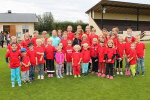 Ungefär 40 barn deltog vid varje träningstillfälle.