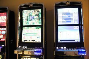 Några av spelautomaterna som rättegången handlar om.