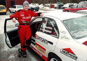 Mattias har även testat rally och bland annat vunnit grupp N i Svenska rallyt 2004.