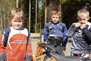 Linus Sonidsson, Elvis Persson och Dennis Sonidsson njöt i vårvärmen.