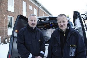 Brandteknikerna Ernst Lindberg och Åke Östberg slår fast att branden är anlagd.
