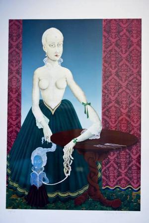 """""""Mediet"""". Surrealistisk konst som trivs i Hofors, av Bert Johnny Nilsson."""