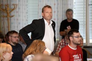Lars Nolander var på plats under kommunfullmäktiges extrainsatta sammanträde.