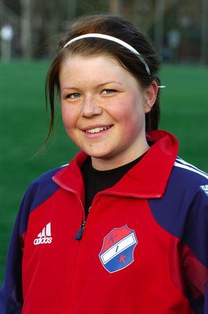 En tio år yngre Michaela Hermansson i KIK-dressen 2006.
