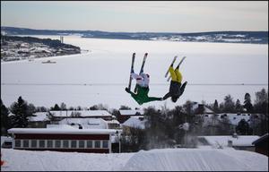 Andre Ifren & Robin Björklund Jenssen en dag i Gustavsbergsbacken.