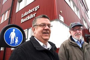 Hans Gunnarsson och Bengt Andersson f d Lebos styrelse.