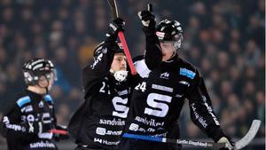 Christoffer Edlund jublade när sedan han reducerat till 4-3 under SM-finalen 2013. På söndag får han och Sandviken spela på Friends arena igen.