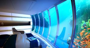Så här ska rummen på Dubais undervattenshotell se ut.