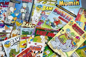 Serietidningarnas upplagor minskar, men det satsas på inhemska serieböcker