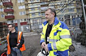 Roger Hedblom, ombudsman på Byggnads, berättade mer om strejkvarslet för dem som jobbar på husbygget bakom CH.