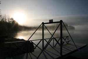 Sjön Barken i lördags.