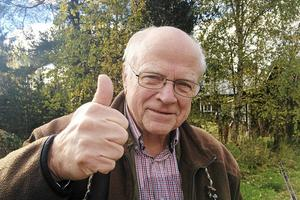 Helge Jonsson, ordförande för Långåfisket, är mycket glad över att staten nu skjuter till pengar för projektet att restaurera en strömsträcka i Ljusnan.