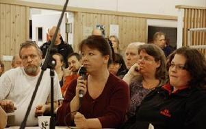 Christina Andersson var en av många mycket upprörda som tog till orda.FOTO: ANDERS BJÖRKLUND