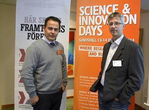 Mats O´Nils, Mittuniversitet, och Robert Norgren, Ragn-Sells, var två av deltagarna på Business Innovation Day.