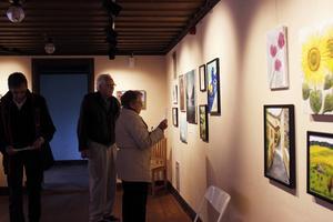 Många kom för att titta på målargruppen Paletts verk.