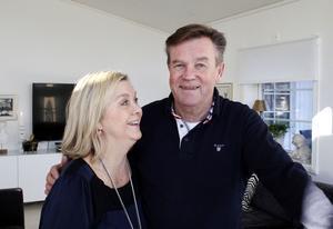 Åsa och Torbjörn Haaga i sitt nya hus.