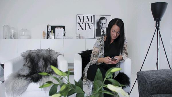 30-åriga Veronica Andersen kikar gärna runt på Instagram för att inspireras av vackra bilder på hem och inredning.