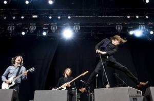 2015. Den svenska gruppen Refused brukar räknas till musikstilen hardcore. Foto: Pontus Lundahl/TT