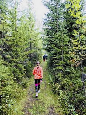 Mira Backman, 11 år, på sin första Norrboledsvandring.