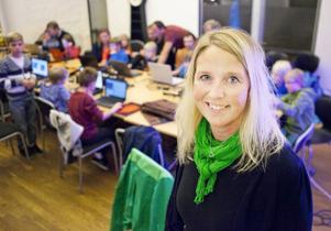 Ann Ragnvaldsson på Kaj63 konstaterar att intresset för programmering är stort bland unga i Östersund.