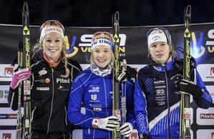 Jenni Öberg, Jonna Sundling och Emma Wikén under SM 2017.