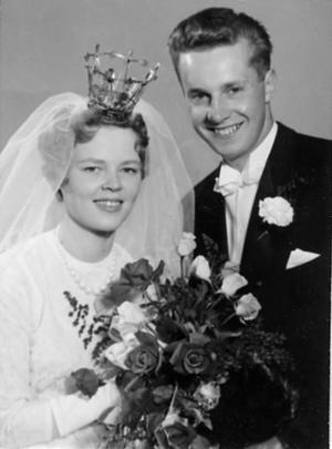 Inger och Matz Karlberg firar 50-årig bröllopsdag.