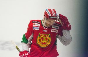 Matt Bailey blev matchhjälte för Mora. Målet blev hans första. Foto: Elin Bergvik Eriksson