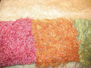 Ryamattan har gjort comeback på bred front. På mässan fanns en mängd ryor i olika storlekar, former och färger.