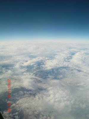Bilden är tagen när vi åkte till Spanien i slute av November 2010, från flygplanet ner i mot jorden.