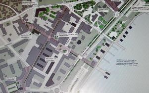 Så här kommer Mora centrum att se ut efter ombyggnaden. Foto: Hans Olander/DT