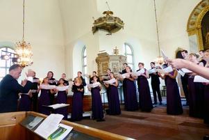 Sofia Vokalensemble har vunnit massor av internationella körtävlingar. Sin höga klass visade de på konserten i Hanebo kyrka på söndagen.