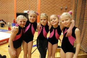 Ingrid Wahlberg, Matilda Lindvall, Hanna Jönsson, Moa Graf och Hedda Krogstadholm Granath hade en toppendag i Sporthallen.