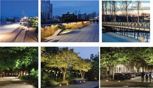 Här är några bilder ur kommunens konceptstudie om hur det skulle kunna se ut kring gångstråk med grönska och belysning så att befolkningen trivs och känner sig trygga dygnet runt.