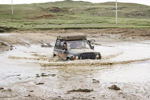 Lera. Under de första dagarna i Mongoliet regnade det mycket. Några dagar senare blev det i stället 38 grader varmt.
