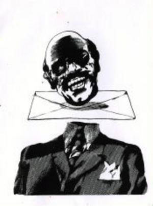 Dan Jonssons illustration till Gonzalo Millans dikt