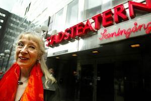 Nöjd? Suzanne Osten, konstnärlig ledare för Unga Klara.Foto: Scanpix