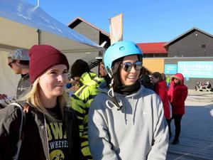 Linnéa Gren och Johanna Bergqvist pluggar på Högskolan i Gävle.
