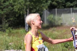 Segrare två. Anna Rahm vann damernas 10 kilometer.