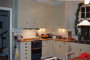 Samma kök efter att kompletteringen av det gamla köket har blivit klar.