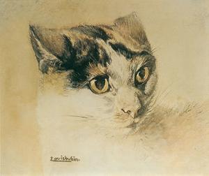 Louis Wain inledde sin framgångsrika karraiär som kattmålare med att göra realistiska porträtt.